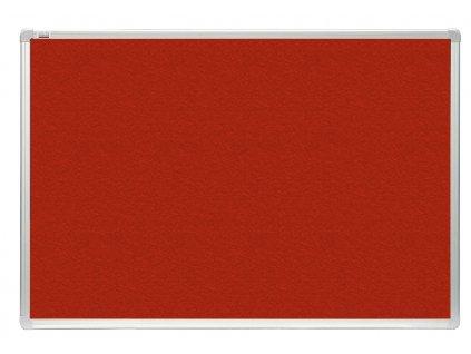 Tabule 2x3 filcová officeBoard 120 x 180 cm s hliníkovým rámem, červená