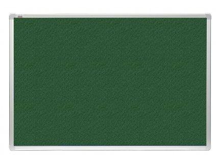 Tabule 2x3 filcová officeBoard 120 x 180 cm s hliníkovým rámem, zelená