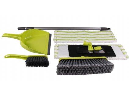 Set Cleanex Trade úklidový DE LUX, mop, koště, násada, smetáček+lopatka