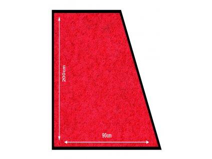 Koberec Securit CARPET 90x200mm k zábranovému systému, Red