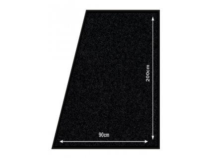 Koberec Securit CARPET 90x200mm k zábranovému systému, Black