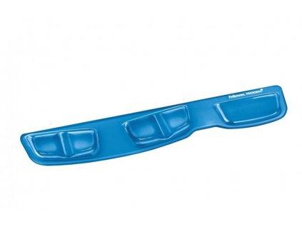 Podložka Fellowes Health-V CRYSTAL před klávesnici gelová Microban, modrá
