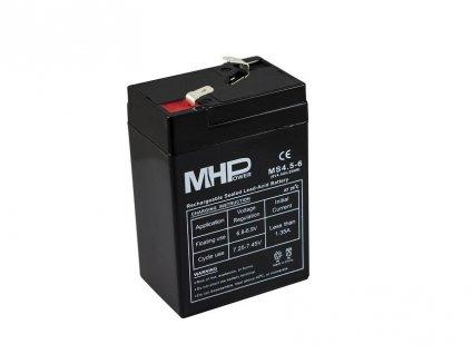 Baterie MHPower MS4-6 VRLA AGM 6 V / 4 Ah