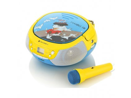 Rádio GoGEN MAXIPREHRAVAC B s CD/MP3/USB, s mikrofonem, modrá/žlutá