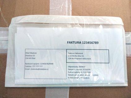 Obálka fóliová samolepící na balík na doklady C5, 17,5 x 23,5 cm, 100 ks