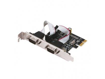 Řadič i-Tec PCI-Express karta 2x Serial RS232, vč. low profile rámečku