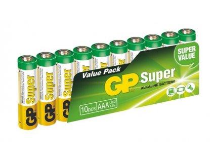 Baterie GP Super Alkaline mikrotužka 1,5V, LR03 AAA, 10 ks