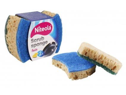 Houba Niteola na nádobí TWIN, antibakteriální, 2ks