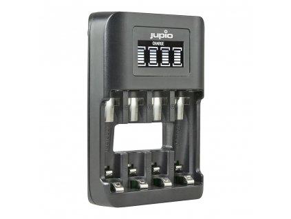 Nabíječka Jupio USB 4-slots Ultra Fast Battery Charger LCD pro 1 až 4ks AA/ AAA baterií