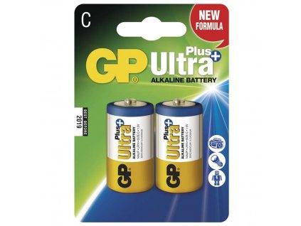 Baterie GP Ultra Plus Alkaline C, (LR14, monočlánek), 2 ks