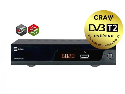 DVB-T2 přijímač Tele Systems TS6820 TWIN DVB-T2 H.265 HEVC přijímač - BAZAR