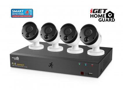 Kamerový set iGET HOMEGUARD HGNVK85304 systém s PoE napájením, 8kanálové NVR + 4x HGNVK930CAM FHD kamera