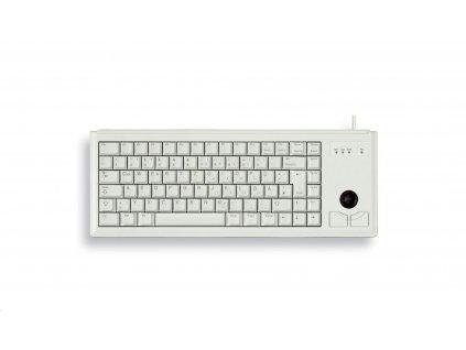 Klávesnice Cherry G84-4400LUBEU-0, KEY, USB, světlá, trackball, US
