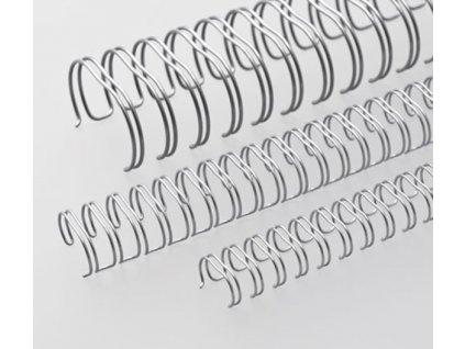 """Vázací hřbet RENZ kovový (3/1"""") A4 průměr 8mm stříbrný 100ks"""