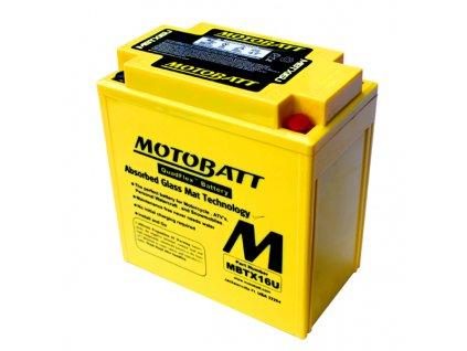 Baterie Motobatt pro motocykly MBTX16U (19Ah, 12V, 4 vývody)