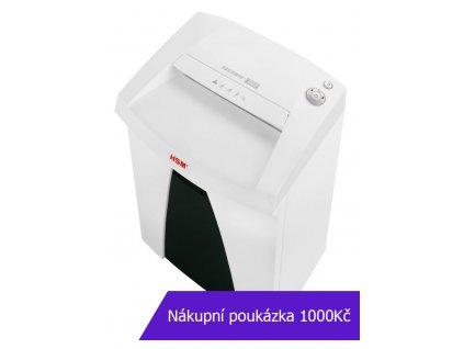 Skartovač HSM Securio B22 P-5, 1,9x15mm, 9 listů, 33l, Credit Card, sponky, NBÚ