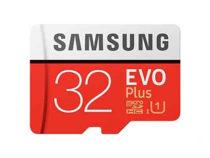 Paměťová karta Samsung micro SDHC EVO Plus 32GB + SD adaptér