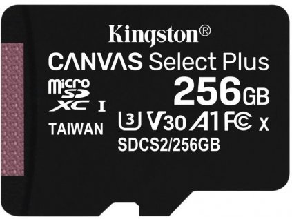 Paměťová karta Kingston Canvas Select Plus A1 256GB microSDXC, Class 10, 100R/85W bez adaptéru