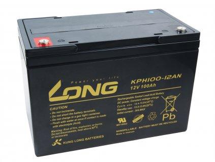 Baterie Avacom Long 12V 100Ah olověný akumulátor Deep Cycle AGM M6 (KPH100-12AN)