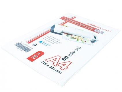 Laminovací fólie ARTA A4, 80mic lesklé, 25ks