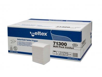 Toaletní papír Celtex Comfort skládaný, 2 vrstvy, 36x250ks