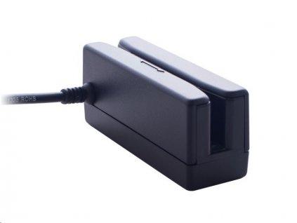 Čtečka Partner MR368B 90mm, snímač mag.karet 1,2,3 stopa, USB (HID), černá