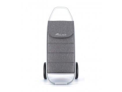 Nákupní taška Rolser Com Tweed Polar 8 na kolečkách, světle šedá