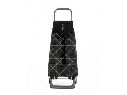 Nákupní taška Rolser Jet Star Joy na kolečkách, černo-bílá