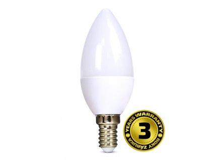 Žárovka Solight WZ409 svíčka, 6W, E14, 3000K, 450lm, teplá bílá