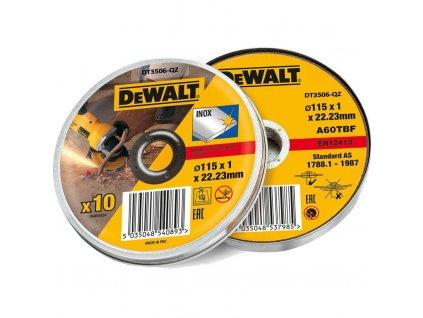 Řezný kotouč Dewalt DT3506 115 mm, 10ks