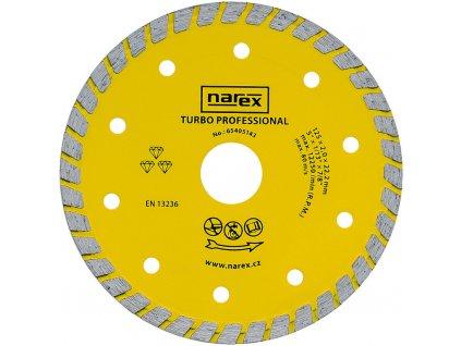 Diamantový kotouč Narex TURBO PROFESSIONAL 125 mm