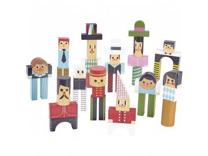 Kostky Vilac dřevěné, postavičky