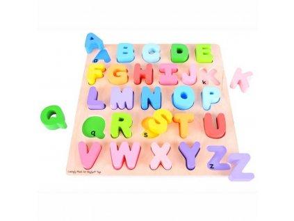 Hračka Bigjigs Toys Baby Abeceda velká písmena