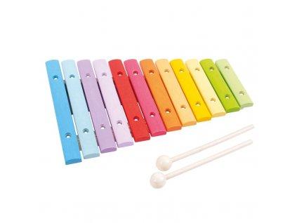 Hračka Bigjigs Toys Dřevěný xylofon