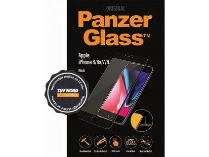 Tvrzené sklo PanzerGlass Edge-to-Edge pro Apple iPhone 6/6s/7/8 černé