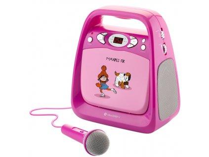Přehrávač GoGEN CD Maxi Karaoke, Maxipes Fík růžový