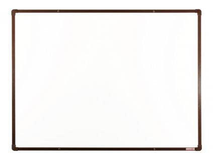 Tabule VMS VISION magnetická boardOK 120 x 90 cm, lakovaný povrch, hnědý rám U20