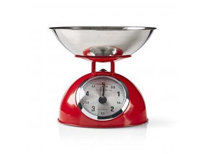 Kuchyňská váha Nedis Retro KASC 110, červená