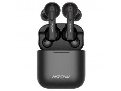 Sluchátka MPOW X3 ANC TWS - bezdrátová s dobíjecím boxem, černá