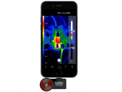Termokamera Seek Thermal CompactPRO FastFrame pro iOS, rozbaleno