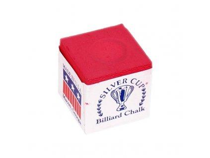 Kulečníková křída Silver Cup 1 ks, červená