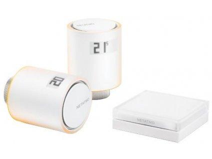 Sada Netatmo Radiator Valves starter pack NVP-EN 2x termostatická bezdrátová hlavice+Relé+příslušenství
