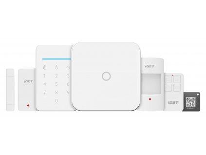 Alarm iGET SECURITY M4 WiFi, ovládání IP kamer a zásuvek, záloha GSM, Android, iOS