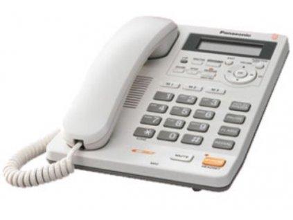 Telefon Panasonic KX-TS620FXW - jednolinkový, displej, digit. záznam, CLIP, hlas. tel., konektor 2,5mm, barva bíla