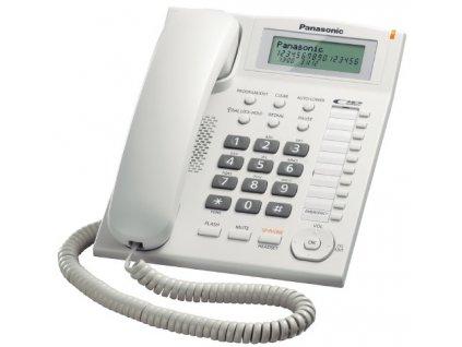 Telefon Panasonic KX-TS880FXW - jednolinkový, displej, CLIP, konektor pro n.s. 2,5mm, speakerphone, barva bílá