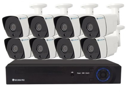 Securia Pro AHD set 1MPx AHD8CHV1-W